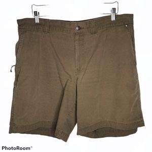 Columbia Brown Khaki Cargo Chino Walking Shorts 40